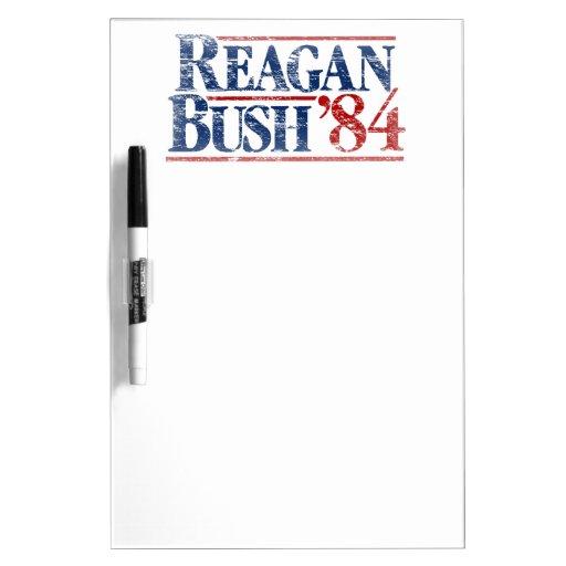 Vintage Distressed Reagan Bush '84 Dry Erase Whiteboard