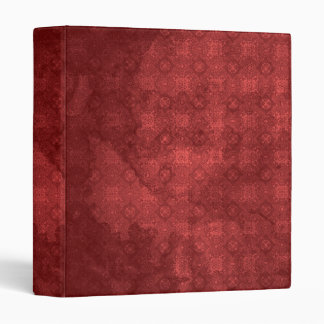 Vintage Distressed Red Pattern 3 Ring Binder