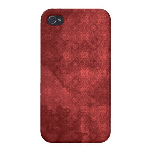 Vintage Distressed Red Pattern iPhone 4/4S Cases