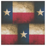 Vintage Distressed Texas Flag Fabric