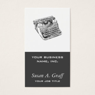 Vintage Distressed Underwood Typewriter Business Card