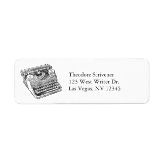 Vintage Distressed Underwood Typewriter Return Address Label
