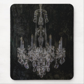 Vintage distressed vampire gothic chandelier mouse pad