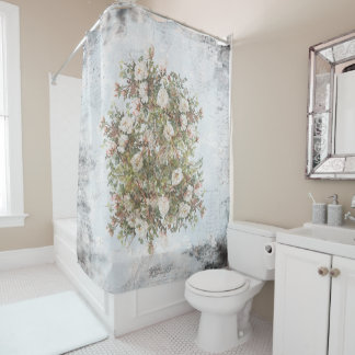 Vintage Distressed White Boho Rose