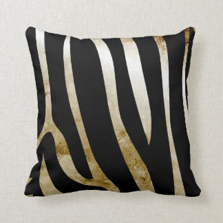 Vintage Distressed Zebra Print Custom Pillow