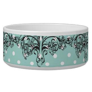 Vintage-Diva-Aqua Dog Water Bowl