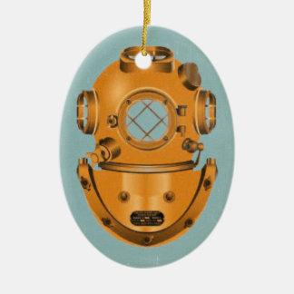 Vintage Diving Bell Ceramic Ornament