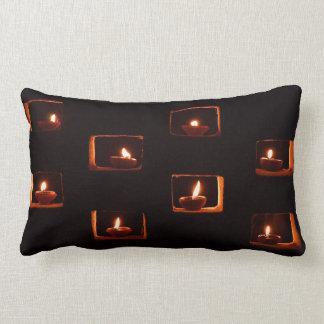 Vintage Diwali candles custom pillow