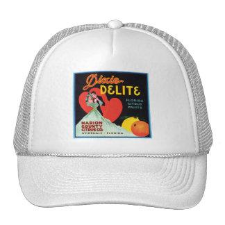 Vintage Dixie Delite Fruit Crate Label Mesh Hat