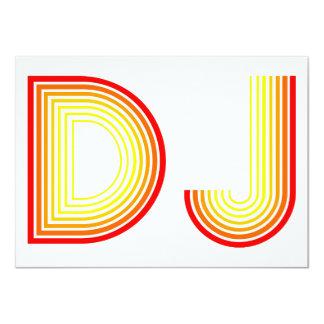 "vintage DJ 4.5"" X 6.25"" Invitation Card"