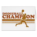 Vintage Dodgeball Champion Greeting Card