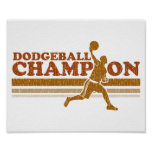 Vintage Dodgeball Champion Posters