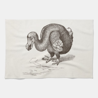 Vintage Dodo Bird Antique Bird Template Kitchen Towel