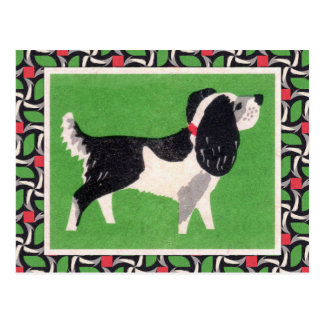 Vintage Dog Art Postcard