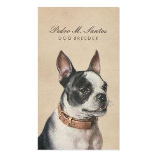 Vintage Dog Breeder Cool Animal Cream Professional Business Card
