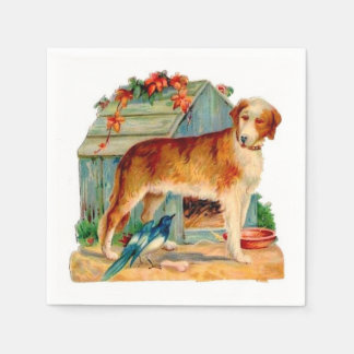 Vintage Dog fun paper napkins