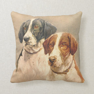 Vintage Dog Image Pillow