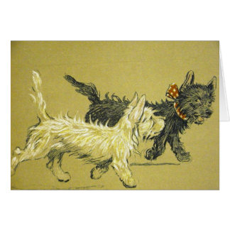 Vintage - Dogs are Best Friends, Card