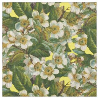 Vintage Dogwood Flowers Fabric