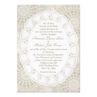 Vintage Doilies Wedding Card
