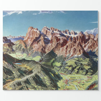 Vintage Dolomites Italy Relief Map