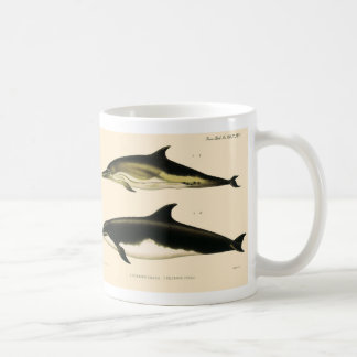 Vintage Dolphins, Marine Animals and Mammals Coffee Mug