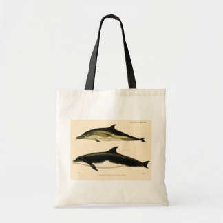 Vintage Dolphins, Marine Animals and Mammals Tote Bag