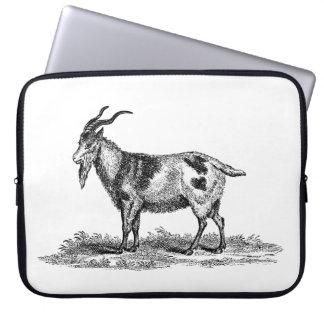 Vintage Domestic Goat Illustration -1800's Goats Laptop Sleeve
