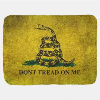 Vintage Don't Tread on Me Gadsden Flag Baby Blanket