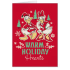 Vintage Donald & Daisy | Warm Holiday Hearts Card