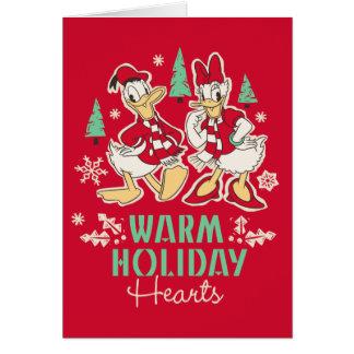 Vintage Donald & Daisy | Warm Holiday Hearts Card
