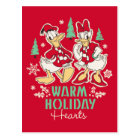 Vintage Donald & Daisy | Warm Holiday Hearts Postcard