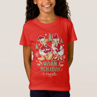 Vintage Donald & Daisy | Warm Holiday Hearts T-Shirt