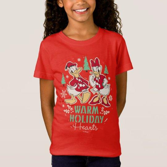 Vintage Donald & Daisy | Warm Holiday Hearts T-Shirt