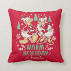 Vintage Donald & Daisy | Warm Holiday Hearts Throw Pillow