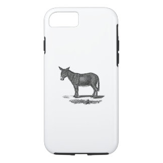 Vintage Donkey Illustration - 1800's Donkeys iPhone 8/7 Case