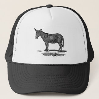 Vintage Donkey Illustration - 1800's Donkeys Trucker Hat
