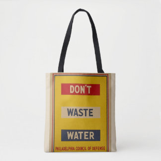"Vintage ""Don't Waste Water"" Tote"