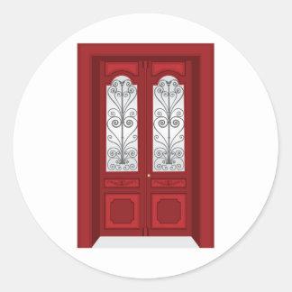 Vintage door classic round sticker