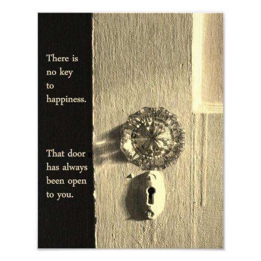 Vintage Door to Happiness Print Photo Print