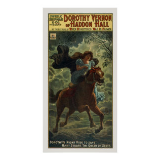 Vintage Dorothy Vernon Poster