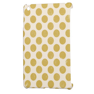 Vintage Dots in Gold Ivory Cover For The iPad Mini