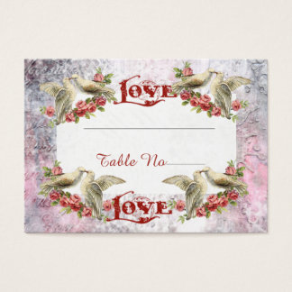 Vintage Dove Wedding Seating Cards