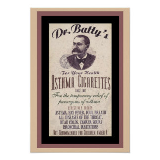 Vintage Dr. Batty's Cigarette Ad Poster