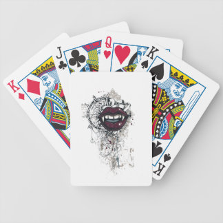 vintage dracula lips bicycle playing cards