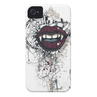 vintage dracula lips iPhone 4 covers