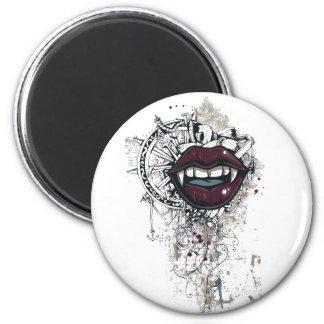 vintage dracula lips magnet