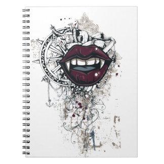 vintage dracula lips notebooks