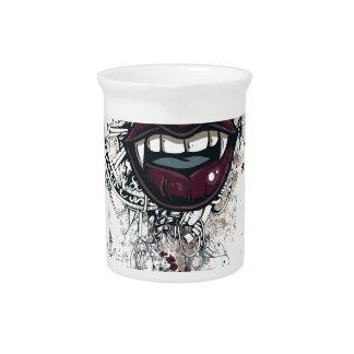 vintage dracula lips pitcher