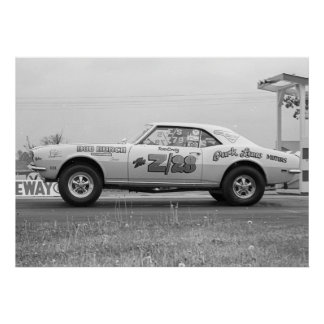 Vintage Drag - Chevy Camaro Z/28 Drag Poster